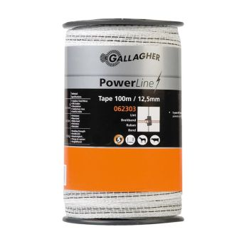 Gallagher PowerLine Breitband 12,5mm 100m weiß