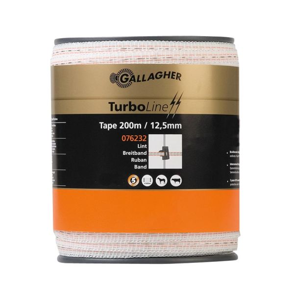 Gallagher TurboLine Breitband 12,5mm 200m weiß